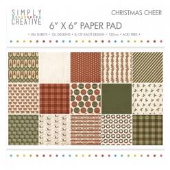 bloc de papier scrapbooking christmas cheer 152x152 cm