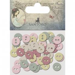 plastic buttons santoro mirabelle3 60 pc