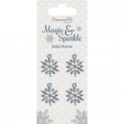 metal charmetsparkle flocons de neige