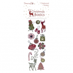 chipboardetstickerschristmasbasics14pices