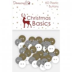 boutons en plastique decoratifs christmas basics