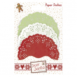 napperons papier doilies dear santa 30 pieces