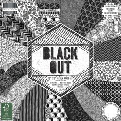 Scrap-Block Black Out, 48 feuilles, 30,5x30,5cm