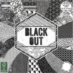 Scrap-Block Black Out, 48 feuilles, 20,3x20,3cm