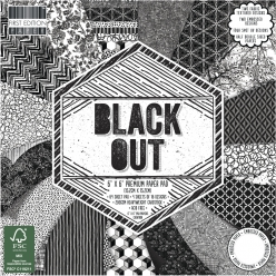 Scrap-Block Black Out  64 feuilles, 15,2x15,2cm