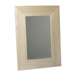 cadre en bois avec miroir 30x42 recycle certifiee