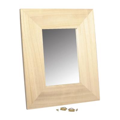 Cadre en bois avec miroir 23x28 cm rayher for Miroir avec cadre en bois