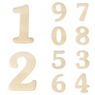 chiffres en bois 4 cm x 02 cm