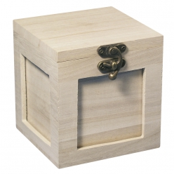 box en bois pour photo 11x11 cm