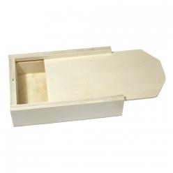 boite en bois avec couvercle coulissant 135x8x3cm