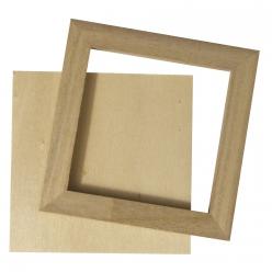 cadre en bois avec paroi arriere 8x8 cm 2pc
