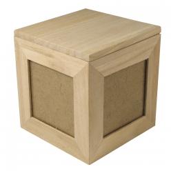 cube en bois pour photo 12x12x12 cm