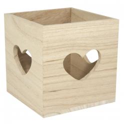 support en bois pour petite bougie