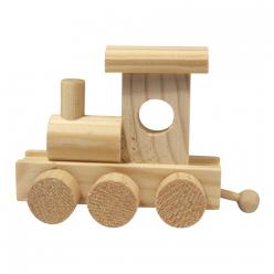 locomotive en bois 10x45x7 cm