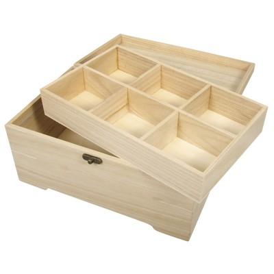 boite en bois avec insert en 2 pieces