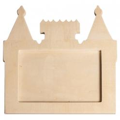 cadre photo en bois chateau label fsc 165x165x09cm