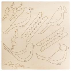 kit en bois paradis des oiseaux a composer