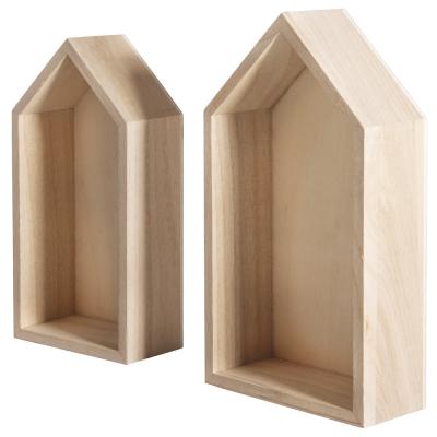 lot de 2 cadres maisons 17x9x4cm15x75x4cm