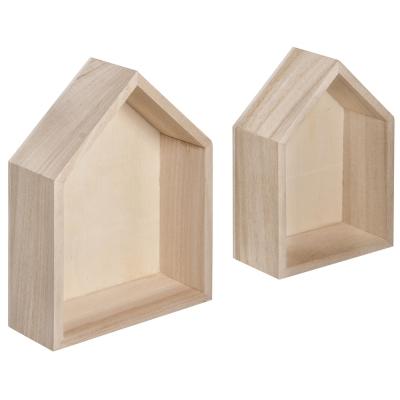 lot de 2 cadres maison 14x10x4cm125x85x4cm