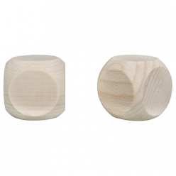 Cubes en bois 40x40mm, lot de  2pces