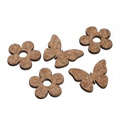 miniaturesenligeboisfleurpapillon12pcs