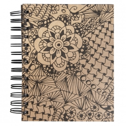 Tangle Memory Journal  Cameo  ,15.5x18cm, kraft