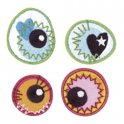 Motif thermofixable en tissu Crazy Eyes