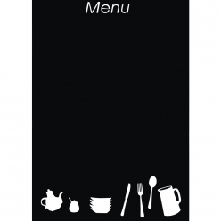 wall stickertablemenu35x50cm