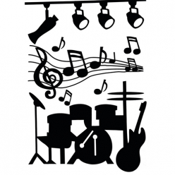 wall stickermusique74x51cm
