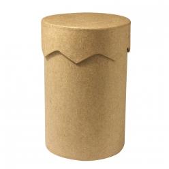 boite en papier mache ronde 8cm x 12 cmh