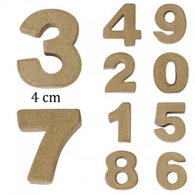 Mini chiffres en papier m ch 4x1 5 cm l 39 unit rayher - Chiffre en carton 3d ...