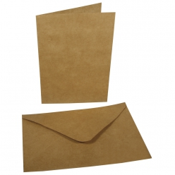 Lot carte double+enveloppe 178x120mm (x4)