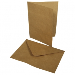 Lot carte double+enveloppe (2x), 218x155mm