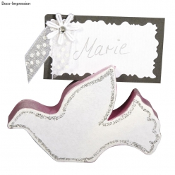 Porte cartes-table Colombes nuptiales 8 cm