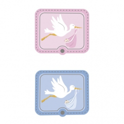 stickers3d6picescigogne4x33cm