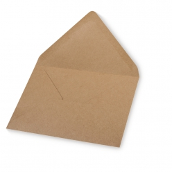 Lot de 5 enveloppes C6, kraft, 156x110mm