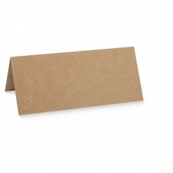 carte de table double100x90mm kraft 5pc