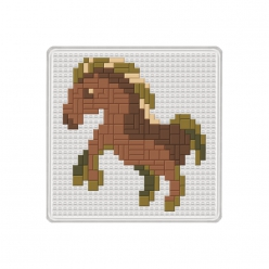 jeudemosanque cheval 14x14cm
