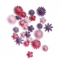 melange de fleurs en papier 15 25 cm 36 pieces