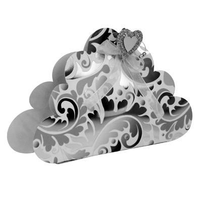 gabarit de decoupe et pliage nuage