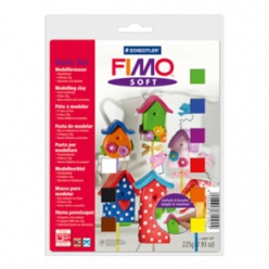 Kit Fimo soft Kit de base  9 demi-blocs à 25g (802310)