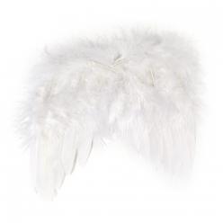 ailes d ange en plumes blanche 20 cm