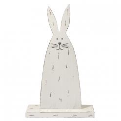 lapin en bois avec plaque 20 cm