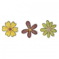 miniatures en bois fleurs pailletees 25 cm