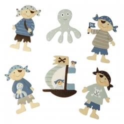 miniatures en bois enfants pirates