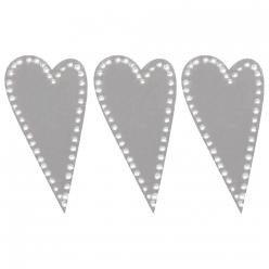 coeur en metal avec dot adhesif 35x17 cm