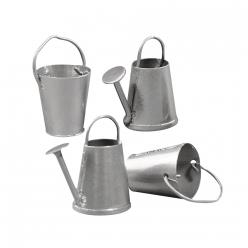 arrosoir et seau en metal 2 3cm 6pc