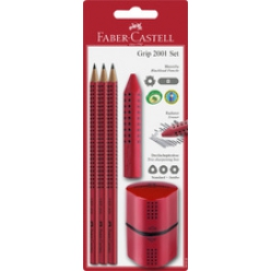 Kit crayon GRIP 2001, trio crayons+gomme+taille crayon