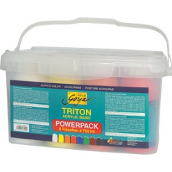 Peinture acrylique Triton Acrylic Basic, Power Pack