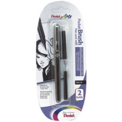 PentelArts Pinceau Brush Pen incl. 2 cartouches de rechange